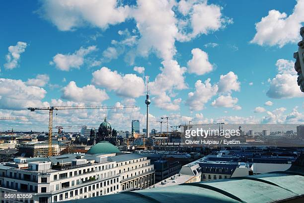 Roof Top View Of City With Tv Tower