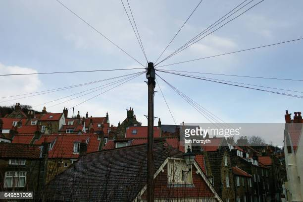 Roof tops in Robin Hood's Bay on the North Yorkshire coast on March 8 2017 in Robin Hood's Bay United Kingdom Robin Hood's Bay is a small fishing...