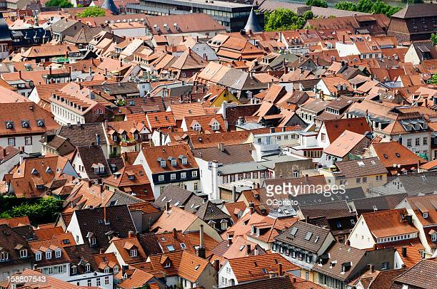 roof tops of the city heidelberg, germany - ogphoto stock photos and pictures