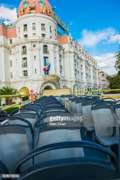 Roof View From a Convertible Bus and Hotel Le Negresco in Nice