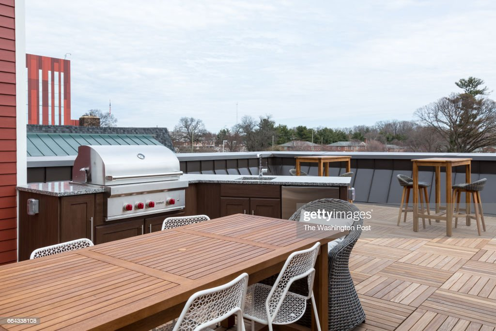 Roofdeck Grill and Counter on the Model Home at Brooks Ridge on
