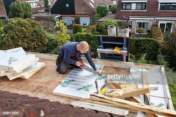 roofer - rooftop stock pictures, royalty-free photos & images