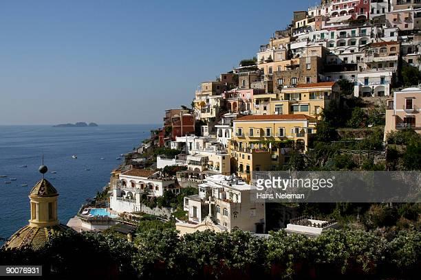 Roofline of Positano, Amalfi, Italy