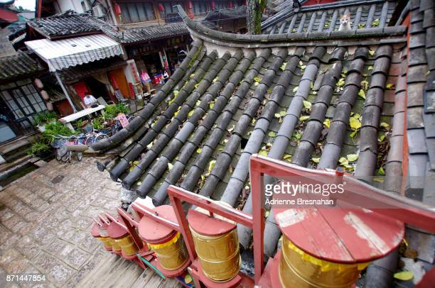 Roofs and Prayer Wheels in Shuhe, China