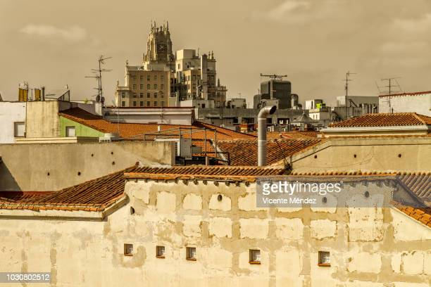 Roofs and rooftops of Madrid