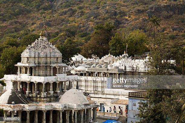 roofs of dilwara jain temples. - dilwara temples stock pictures, royalty-free photos & images