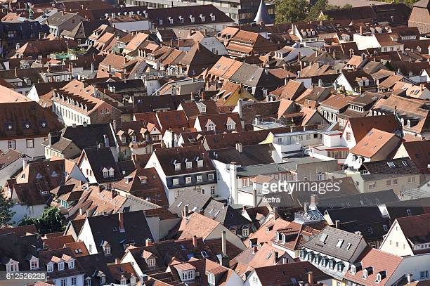 roofs of heidelberg - heidelberg germany stock pictures, royalty-free photos & images