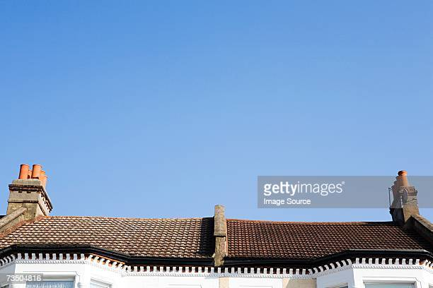 roofs of houses - roof stock pictures, royalty-free photos & images