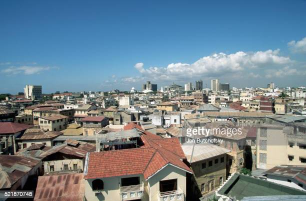 roofs of mombasa houses - mombasa stock pictures, royalty-free photos & images