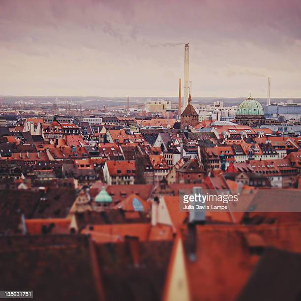roofs of nuremberg, germany - julia scharf stock-fotos und bilder