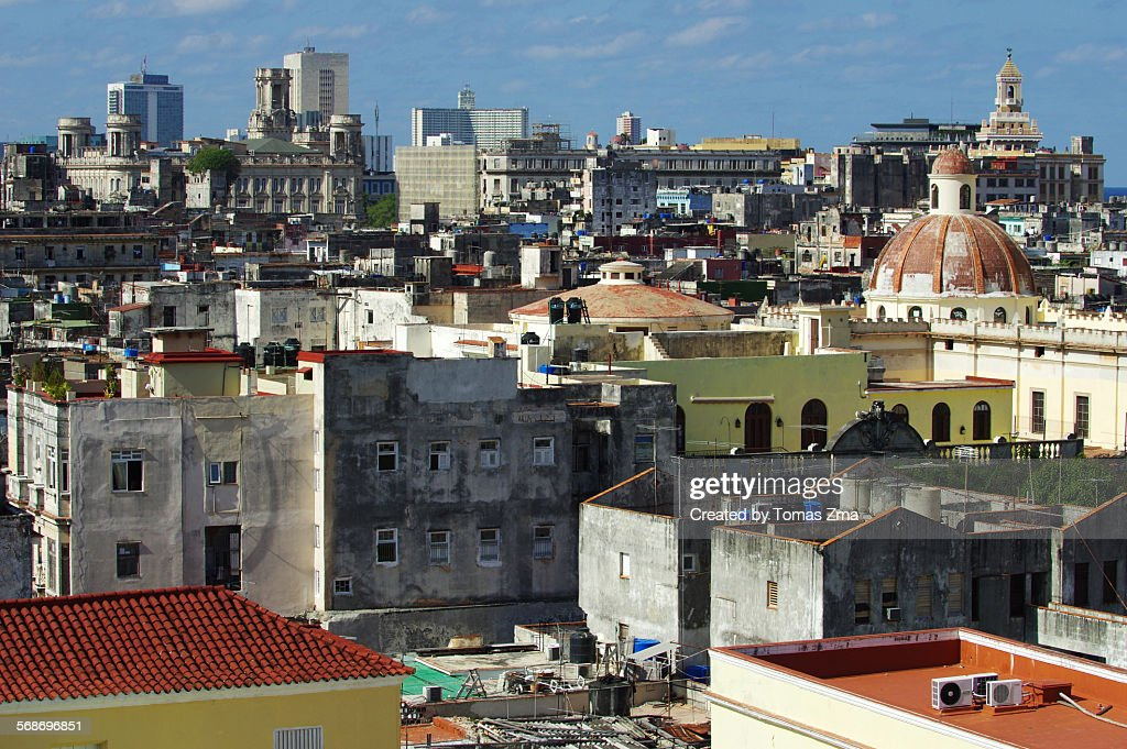 Roofs of Old Havana : Stock Photo