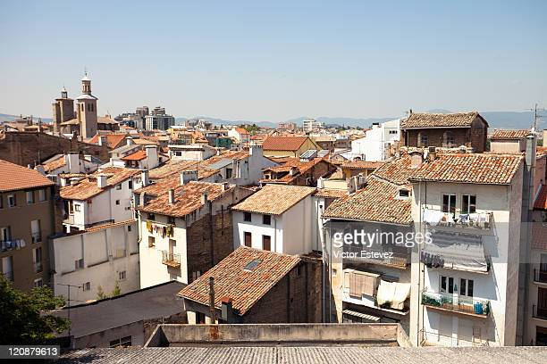 roofs of pamplona - pamplona stock pictures, royalty-free photos & images