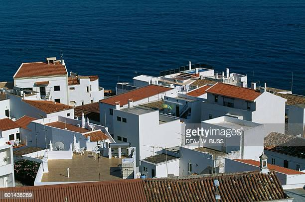 Roofs of the houses in Albufeira Algarve Portugal
