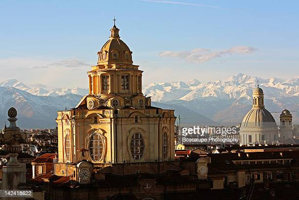 roofs of turin - turin stock pictures, royalty-free photos & images