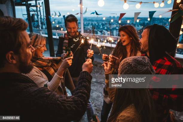 Rooftop autumn party