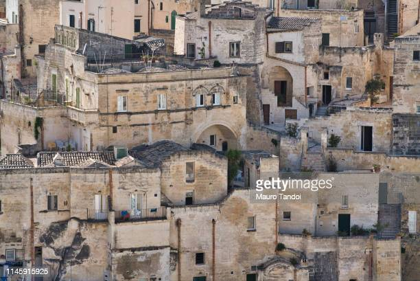 rooftop cityscape, matera, basilicata, italy - mauro tandoi stock photos and pictures
