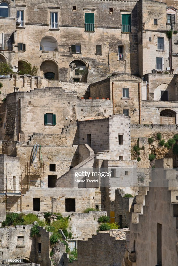Rooftop cityscape, Matera, Basilicata, Italy : Foto stock