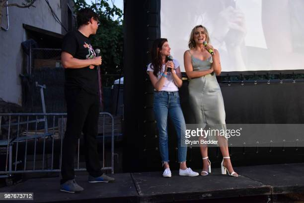 Rooftop Films artistic director Dan Nuxoll Writer and Director Laura Steinel and actress Taylor Schilling attends the Rooftop Films NY Premiere of...