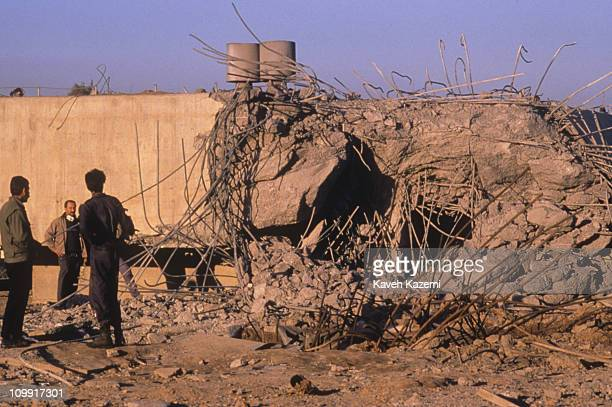 Rooftop of a building in Amiriya district a residential area on Baghdad's western outskirts after an Allied bombing on an air raid shelter by US...