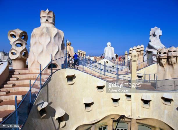 Rooftop of Casa Mila in Barcelona