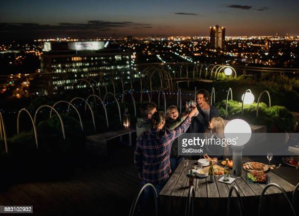 Rooftop Party After Dark