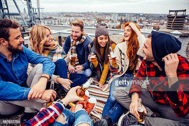 Rooftop party.