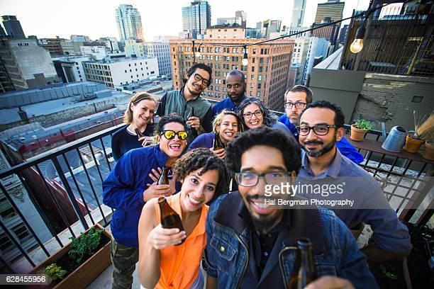 Rooftop Party Selfie