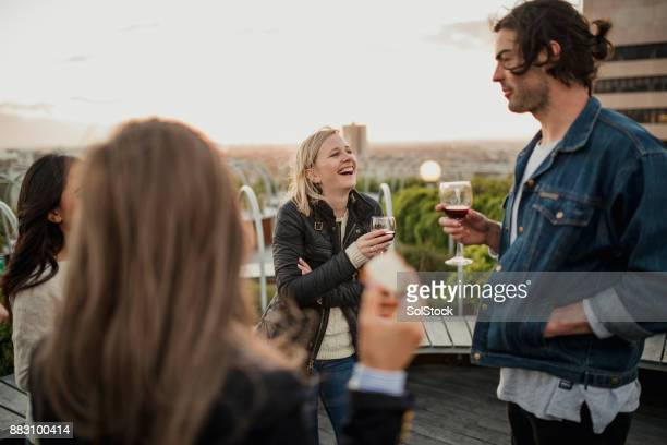 Rooftop Party with Friends
