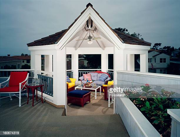 Rooftop patio with gazebo