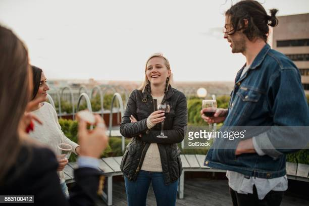 Rooftop Social Gathering with Friends