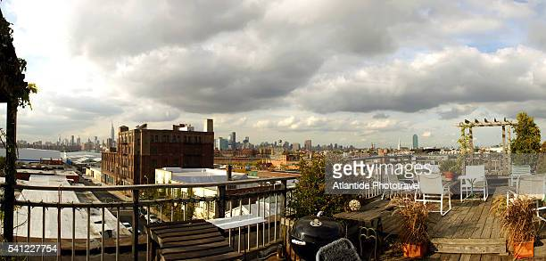 Rooftop Terrace in the Williamsburg Neighborhood of Brooklyn