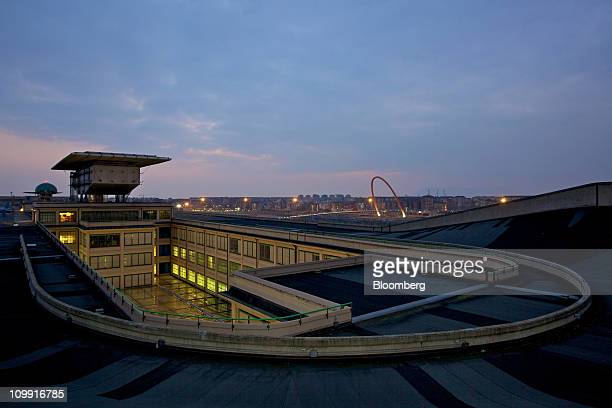 A rooftop vehicle test track is seen at the Lingotto building a former Fiat SpA plant in Turin Italy on Tuesday March 8 2011 Fiat SpA plans to build...