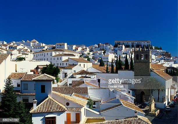 Rooftop View of the Village of Ronda, Malaga, Andalucia, Spain