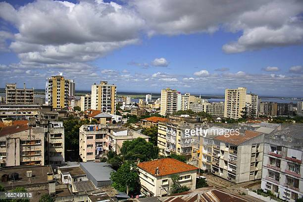 Rooftop view shows the skyline of Mozambic capital Maputo on January 8, 2007. AFP PHOTO/ STRINGER