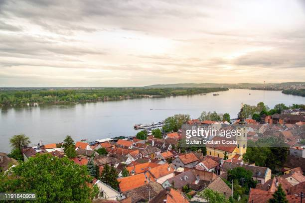 rooftops from zemun, belgrade, serbia - belgrade serbia stock pictures, royalty-free photos & images