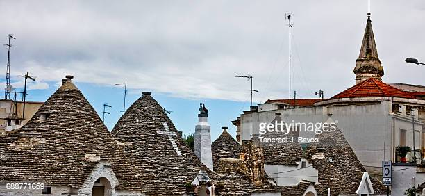 rooftops in alberobello - bavosi stock photos and pictures