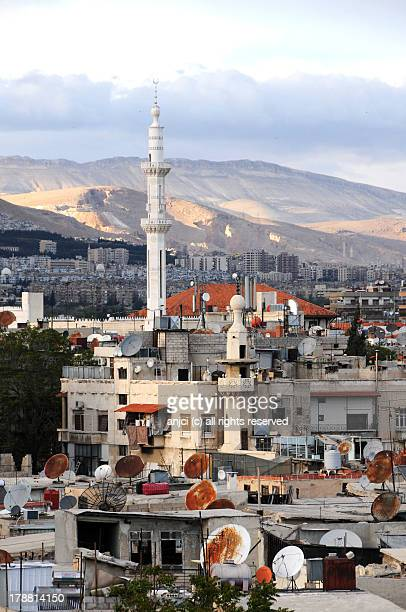 Rooftops in Damascus, Syria