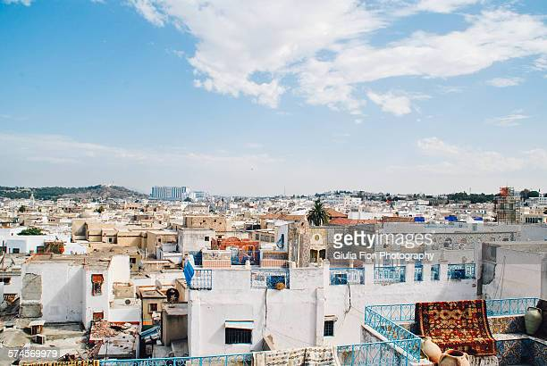 rooftops in tunis - tunis stock pictures, royalty-free photos & images