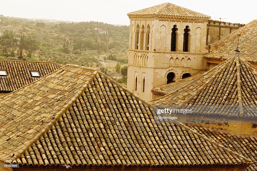 Rooftops of buildings, Toledo, Spain : Foto de stock
