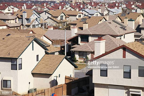 Rooftops of houses in CA