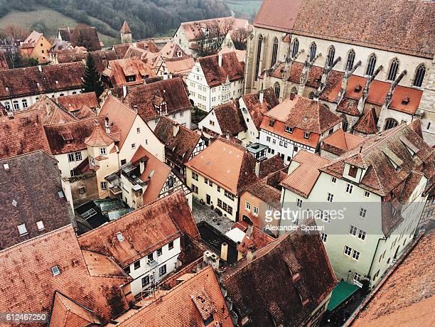 Rooftops of Rothenburg ob der Tauber, Bavaria, Germany