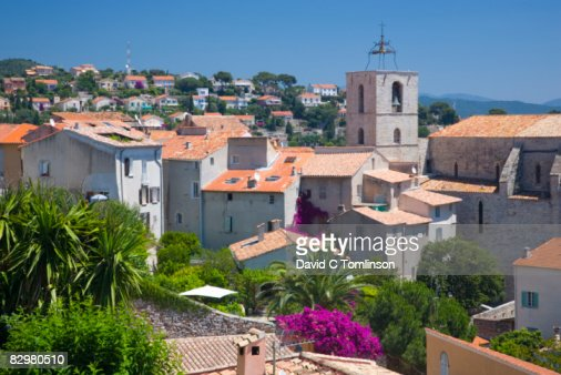 rooftops of the old town hyeres france getty images. Black Bedroom Furniture Sets. Home Design Ideas