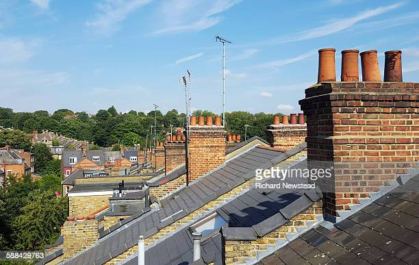 rooftops - highgate stock pictures, royalty-free photos & images