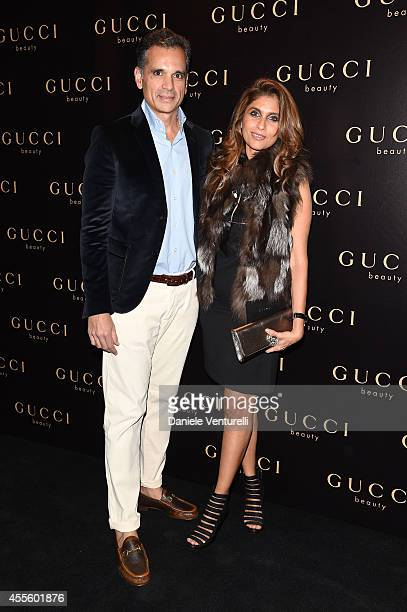 Roohi Jaikishan and Chetan Jaikishan attend Gucci Beauty Launch Event Hosted By Frida Giannini during the Milan Fashion Week Womenswear Spring/Summer...