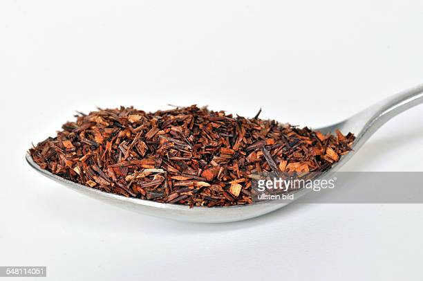 rooibos tea on a spoon
