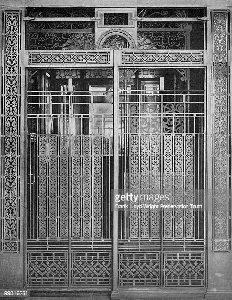 Rookery Building elevator grille designed by Frank Lloyd Wright, Chicago, Illinois, 1910.