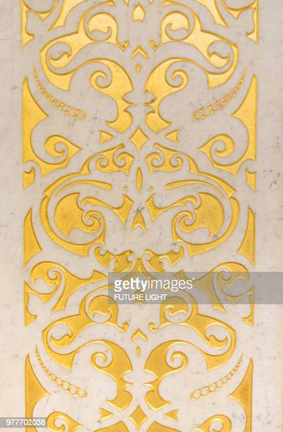 rookery building, interior panel detail, chicago, illinois, usa, north america - rookery chicago stock pictures, royalty-free photos & images