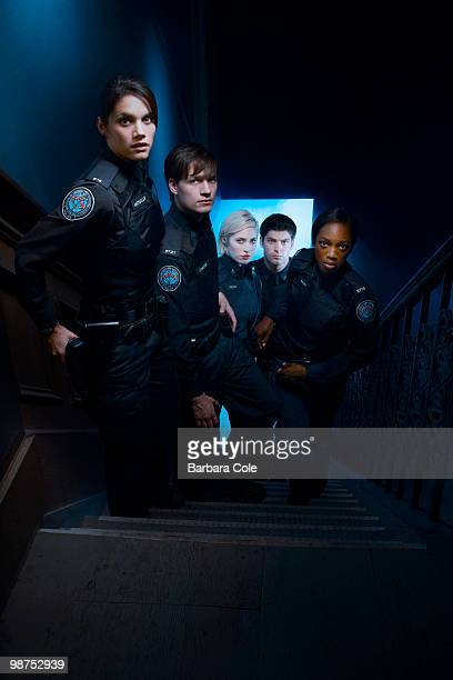 BLUE Rookie Blue stars Missy Peregrym as Andy McNally Gregory Smith as Dov Epstein Charlotte Sullivan as Gail Peck Travis Milne as Chris Diaz and...