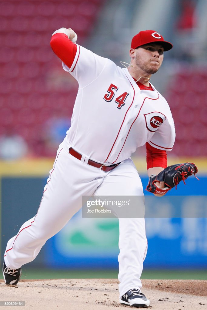Rookie Davis #54 of the Cincinnati Reds pitches in the first inning of a game against the St. Louis Cardinals at Great American Ball Park on September 20, 2017 in Cincinnati, Ohio.