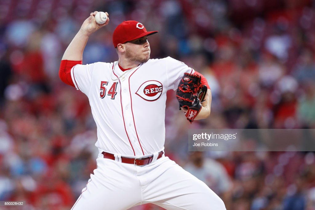 Rookie Davis #54 of the Cincinnati Reds pitches in the second inning of a game against the St. Louis Cardinals at Great American Ball Park on September 20, 2017 in Cincinnati, Ohio.